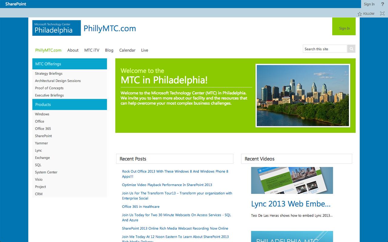 Styling PhillyMTC.com - BindTuning Academy