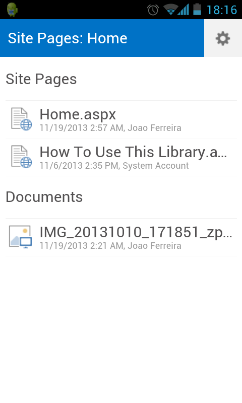 SharePoint Mobile View