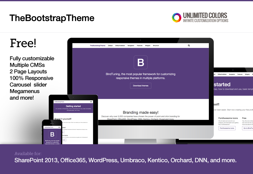 New release: The Bootstrap Theme - BindTuning Academy