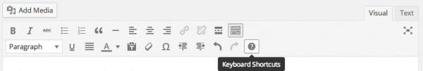 Keyboard Shortcuts in your Visual post editor