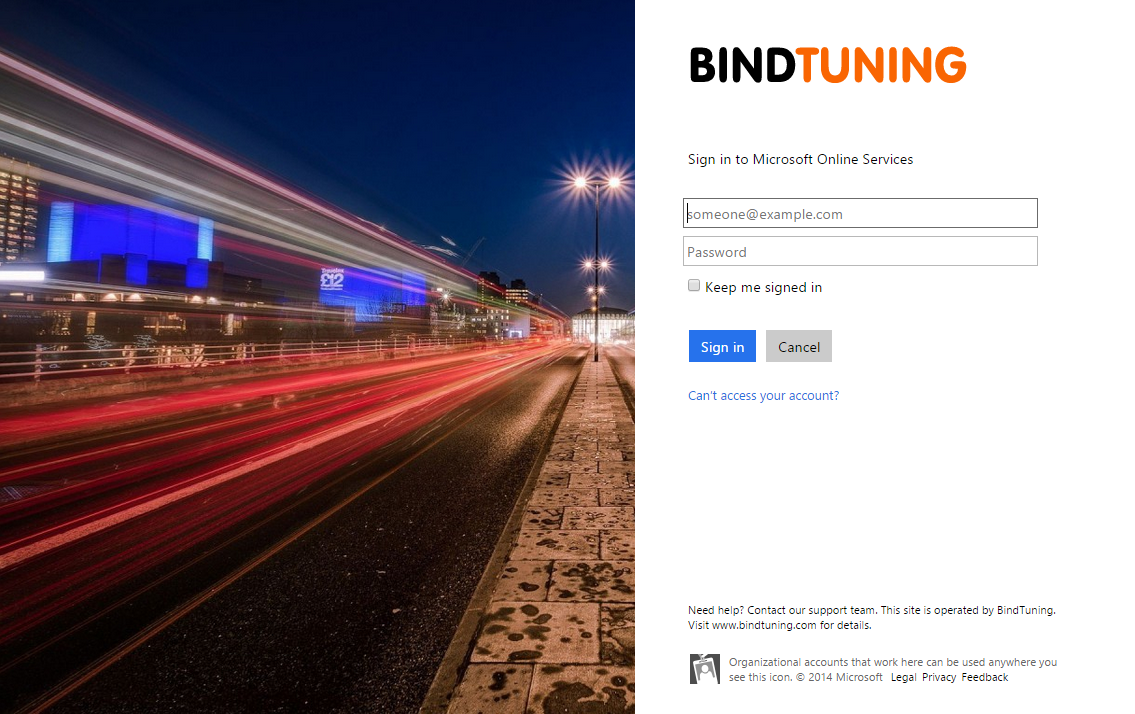 Office 365 Sign In page (1)