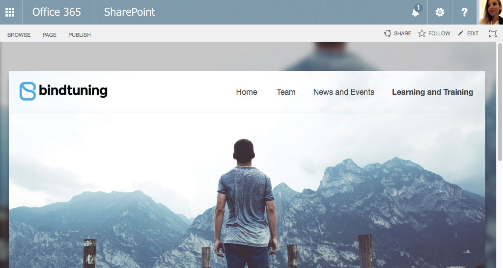 blur for sharepoint