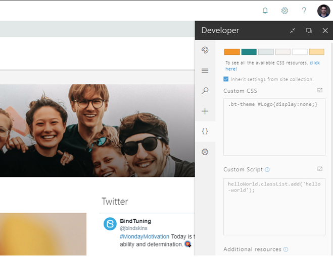 How to add custom CSS to Modern SharePoint pages