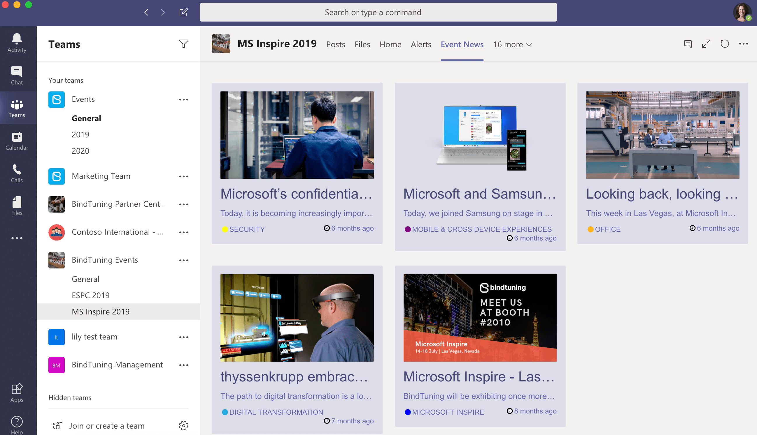 News App for Microsoft Teams