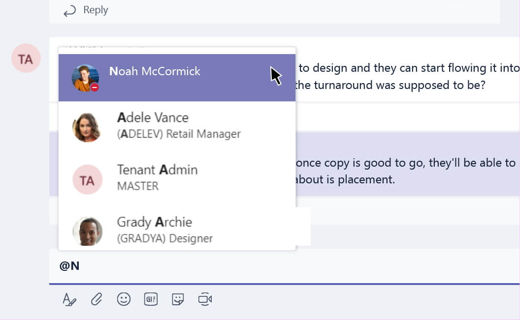 Microsoft Teams atmention