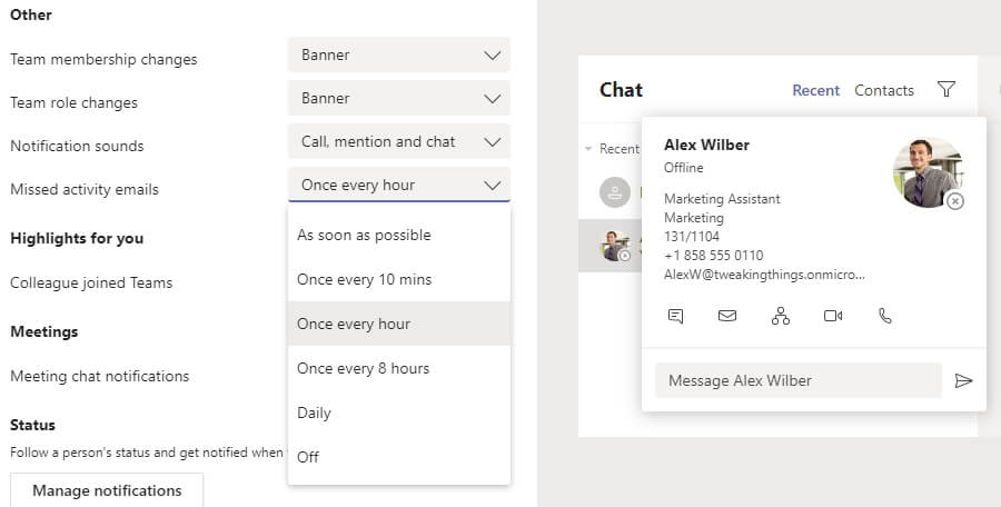 Microsoft Teams Notifications Email