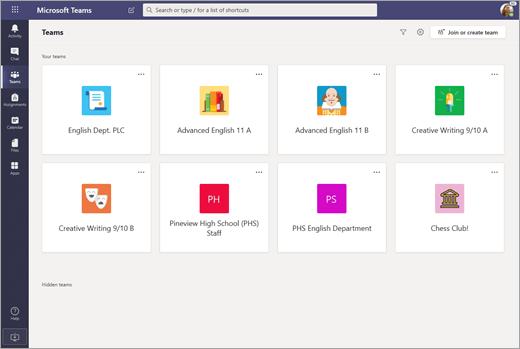 Dev tenant screenshot