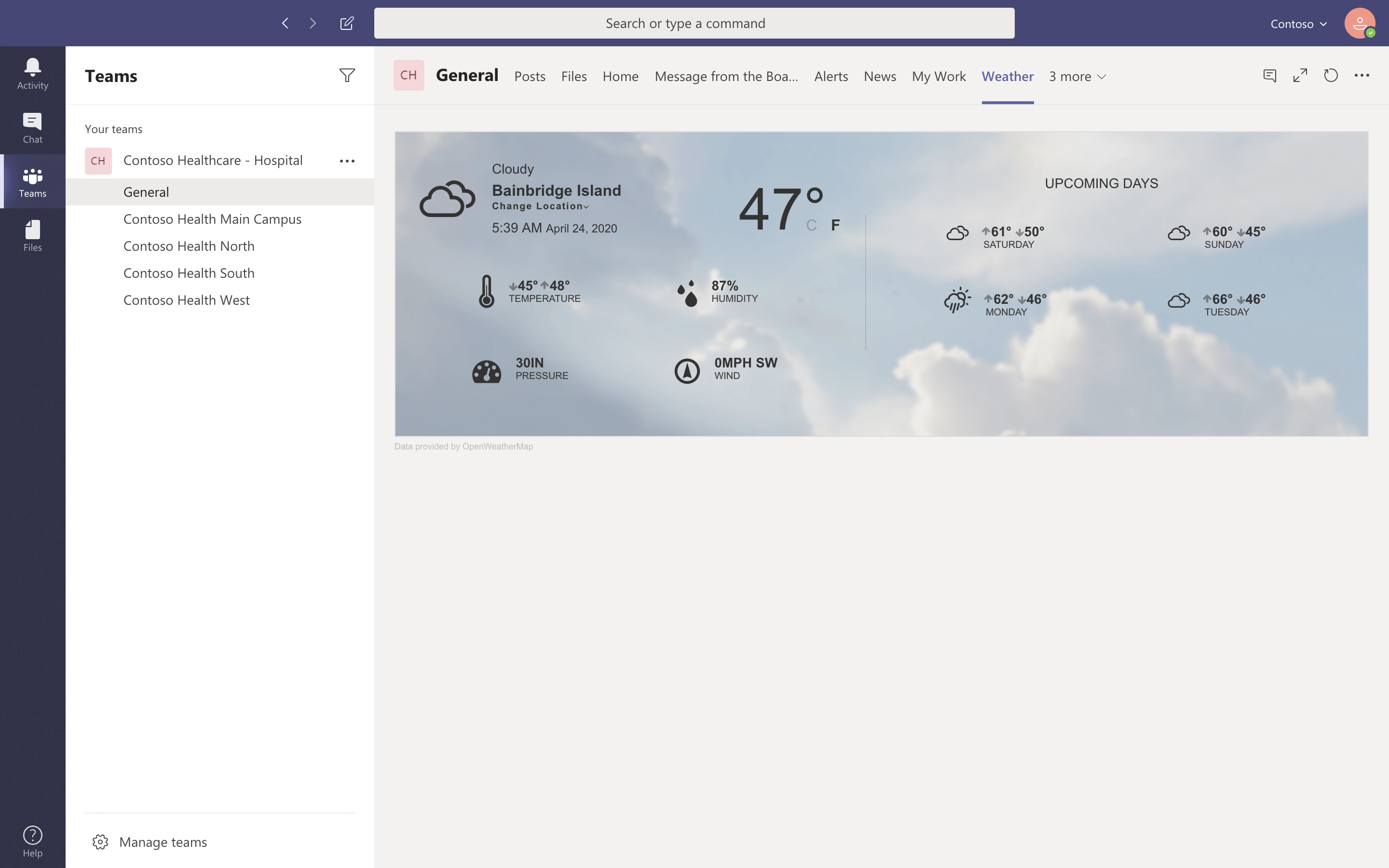 Personalized weather based on location