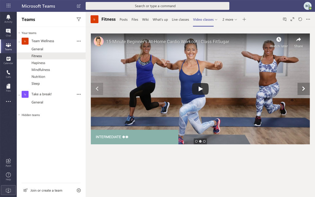 Curated workouts