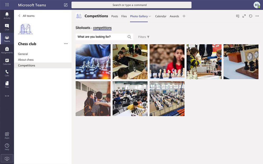 Club photo gallery, while students are in remote learning