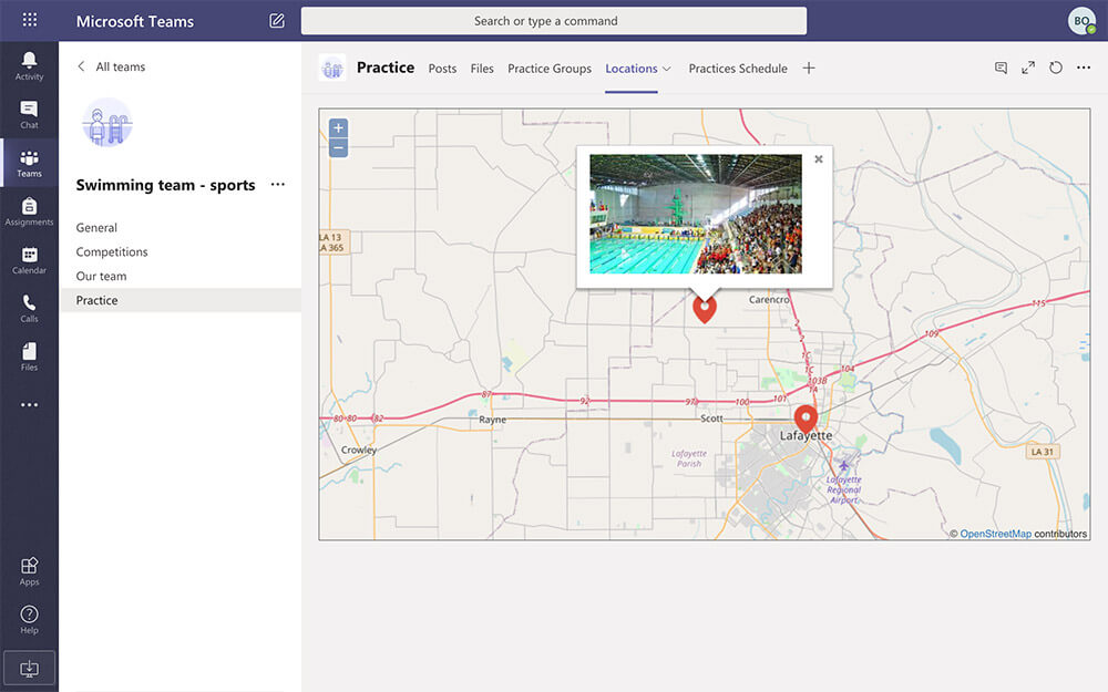 Pratice locations map, even while in remote learning