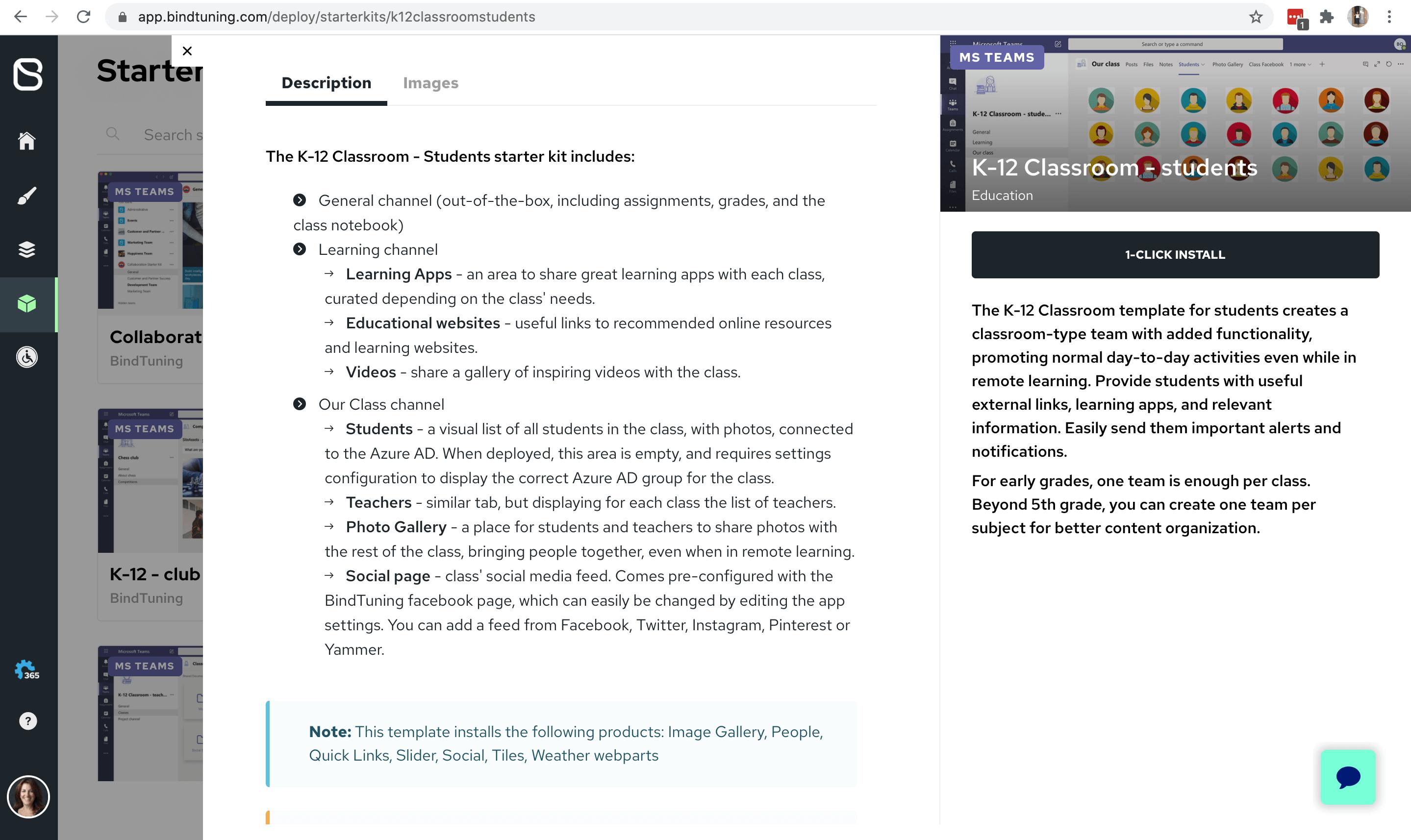 Install Microsoft Teams Template